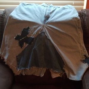 womens distressed skirt